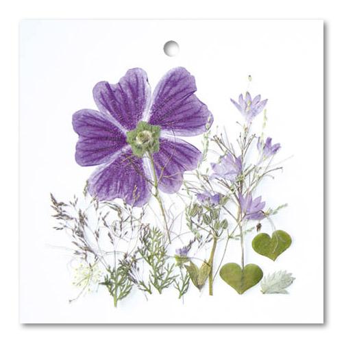 Flower Art (vierkant dubbel/touwtje)