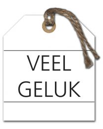 Black & White Mini 05 Veel Geluk