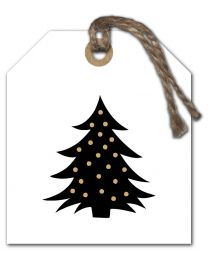 Black & White mini Kerst 04 Blanco Kerstboom