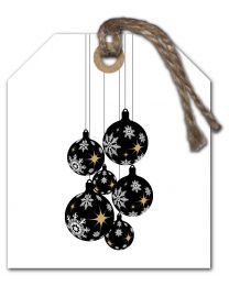 Black & White mini Kerst 05 Blanco Kerstballen
