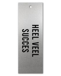 Zilver 28 Heel Veel Succes
