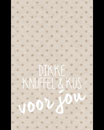 Crafty Postcard 22 Dikke knuffel & kus voor jou
