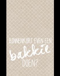 Crafty Postcard 24 Binnenkort even een bakkie doen?