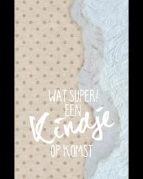 Crafty Postcard 42 Wat Super! Een kindje op komst