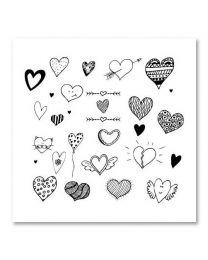 SOHO Vierkant 24 Hearts