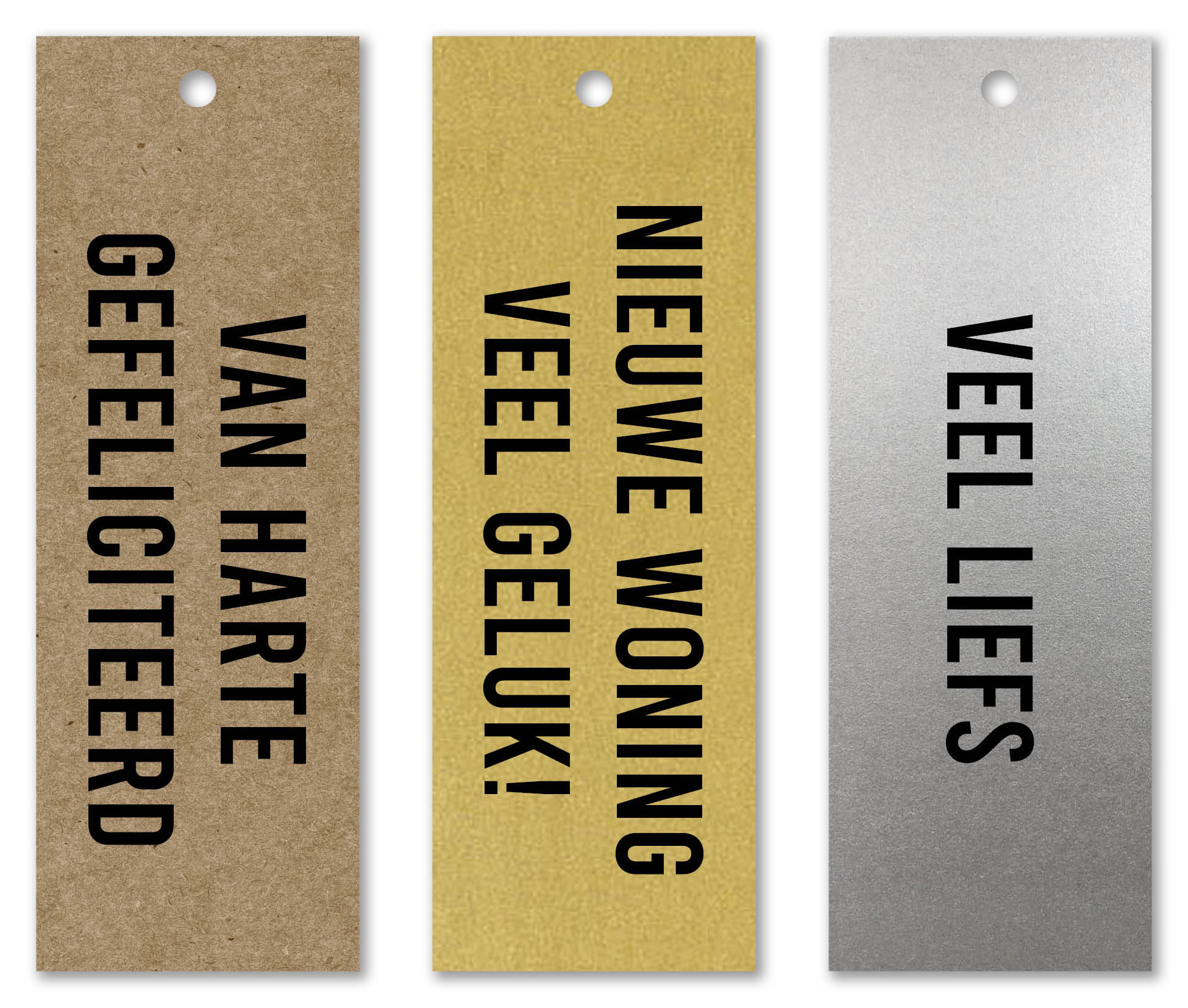 Label Kraft Puur -Goud & Zilver Metallic